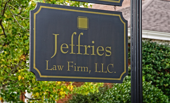 Jeffries Law Firm outdoor sign